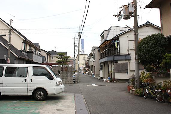 会社の周りの住宅街