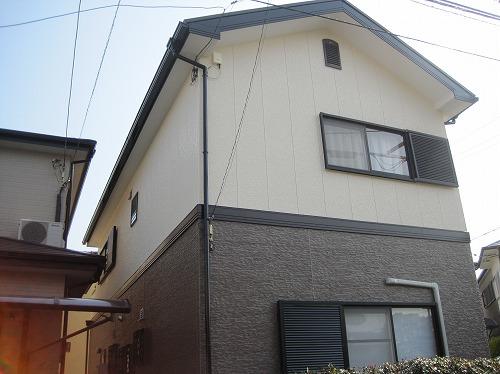 大阪狭山市の外壁塗装の完成(北面)