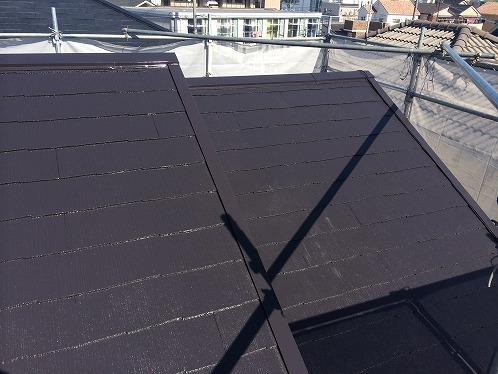 屋根塗装の完成