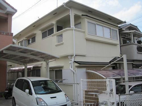 塗装工事後の家