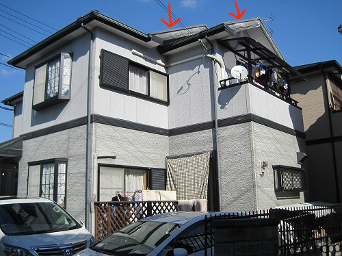大阪狭山市の外壁塗装の工事前
