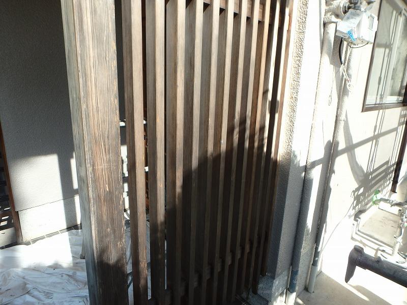 玄関木部塗装前