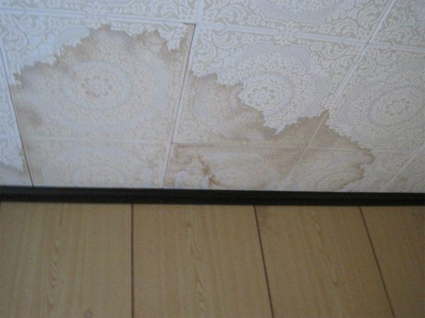 台所の雨漏り