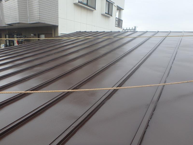 塗装後の店舗屋根