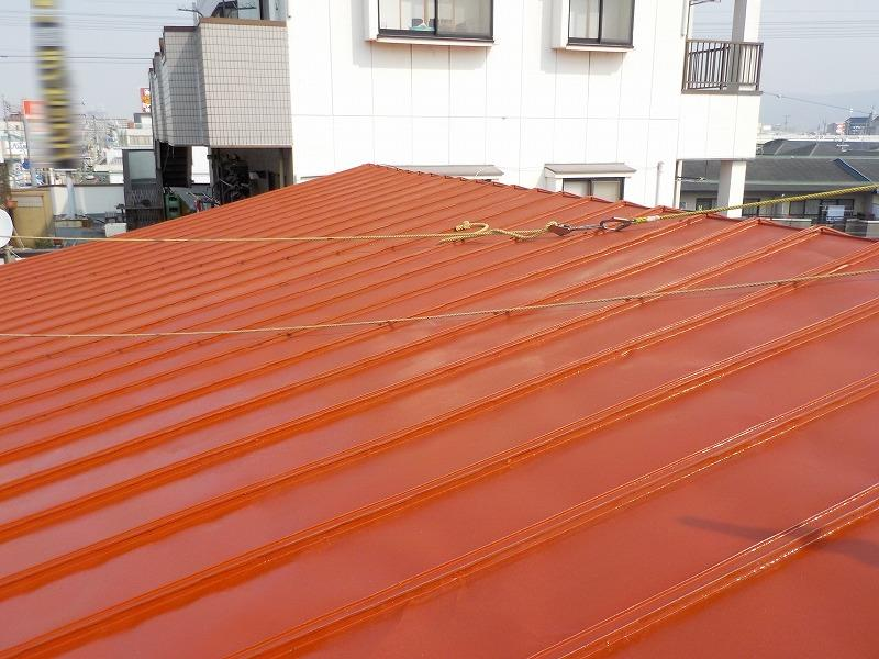 塗装前の店舗屋根