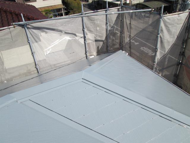 屋根塗り替え後