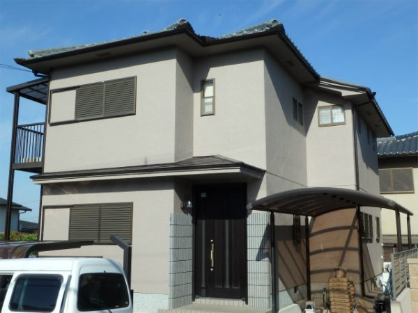 南河内郡の塗装完成の家