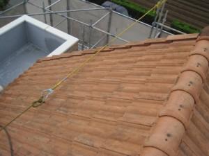 屋根塗装前(モニエル瓦・乾式コンクリート瓦)