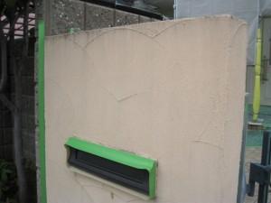 門柱塗装前