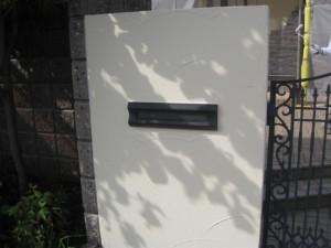 門柱塗装後
