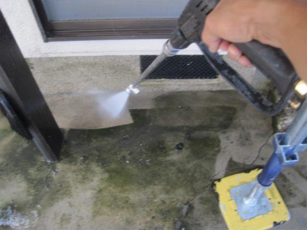 床の高圧洗浄