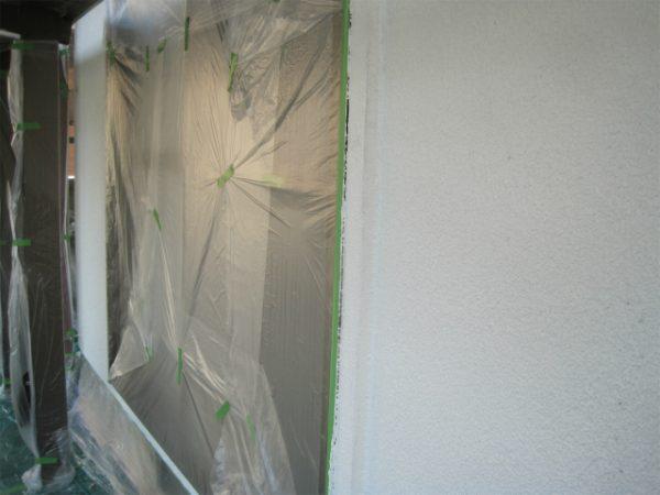 外壁の下塗りの後