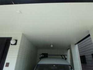 車庫天井塗装後