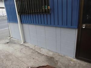 倉庫の外壁塗装(塗装後)