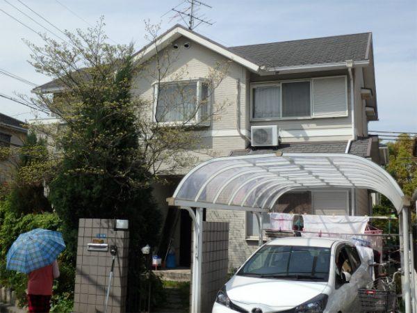 富田林の塗装工事前の家
