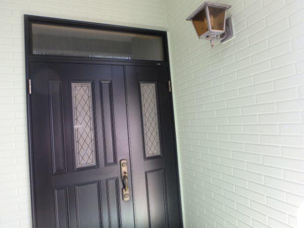玄関まわりの塗装