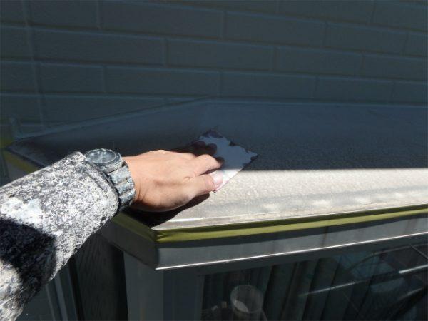 出窓塗装の下地処理