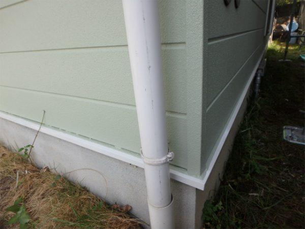 雨樋の塗装前