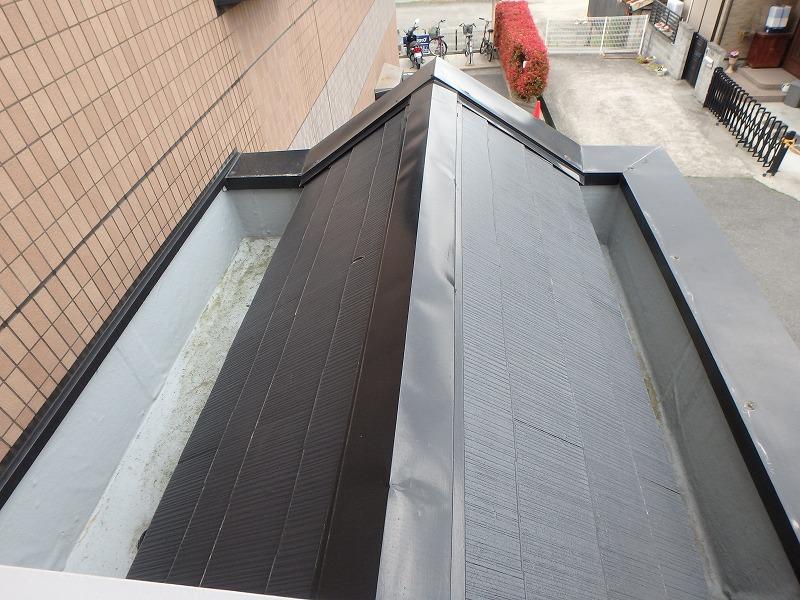 塗装後のマンション屋根