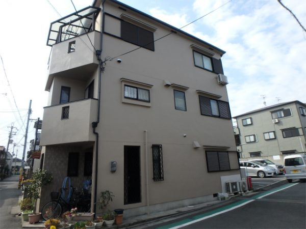 藤井寺市の外壁塗装完成の家