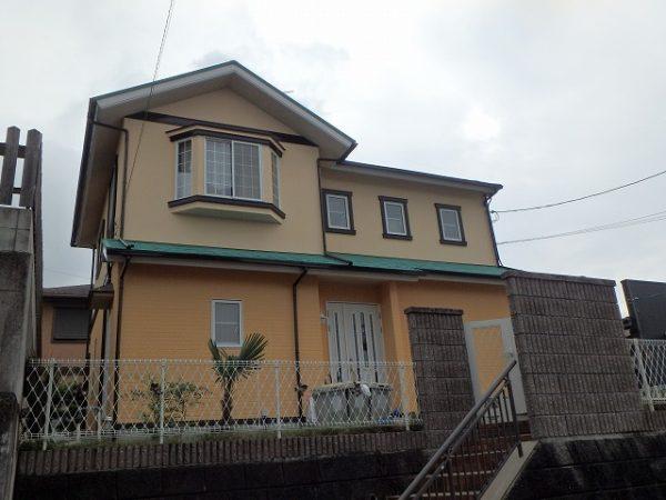 塗装が完成した家