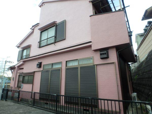 和泉市の窯業系サイディング塗装の家