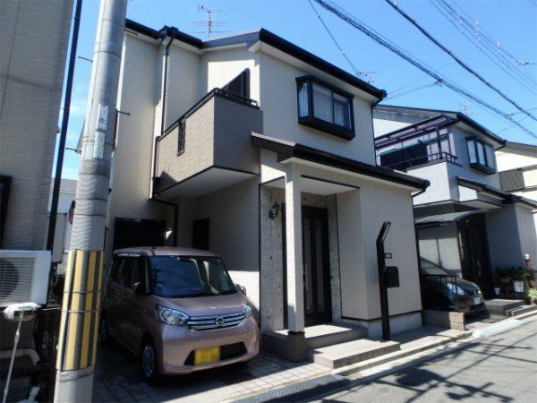 松原市の塗り替え完成の家