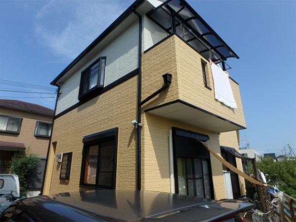 和泉市の外壁塗装完成の家