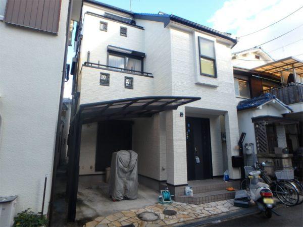 堺市東区の3階建てサイディングの一戸建て