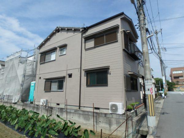 藤井寺市の戸建住宅の外壁塗り替えの家