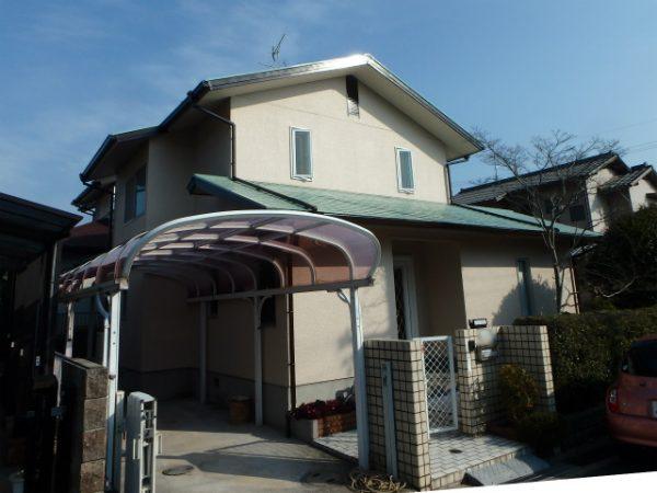 富田林市の外壁塗装完成の家