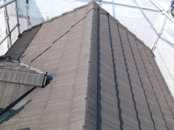 屋根塗装の前(モニエル瓦)