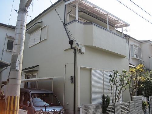塗装完成後の家