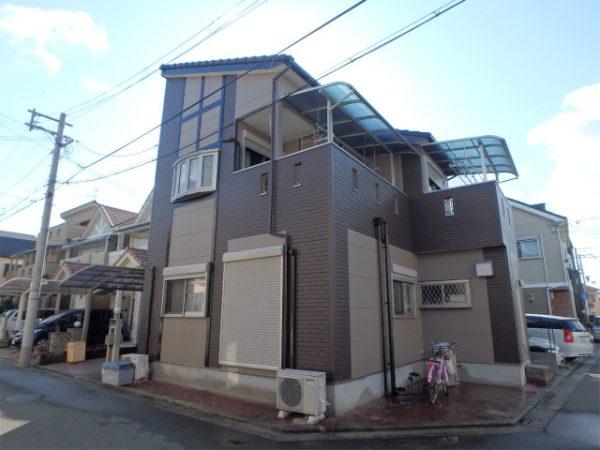 堺市の外壁塗装完成の家