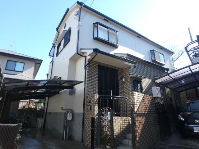 柏原市の塗装後の家