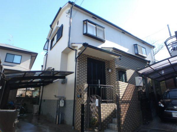 外壁塗装が完成の家