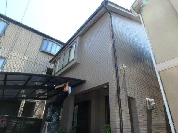 八尾市の外壁塗装完成の家