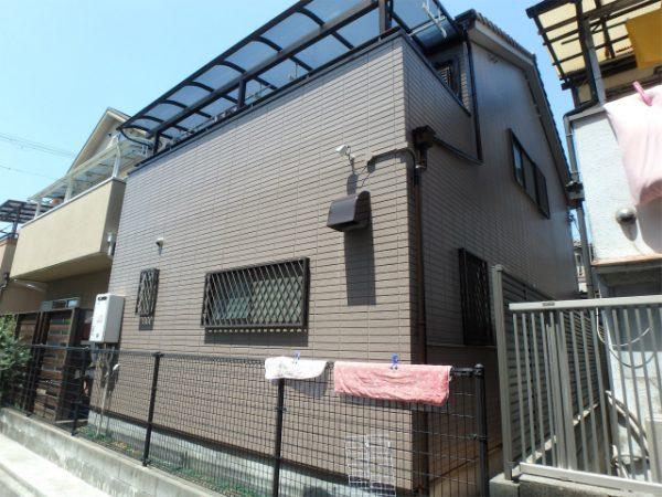 八尾市の外壁塗装完成の裏面