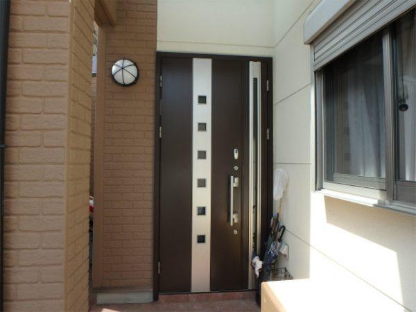 玄関の塗装前