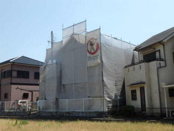 外壁塗装前の足場工事