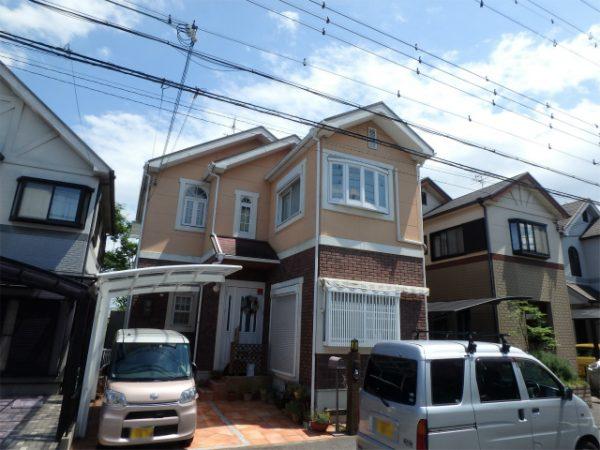 和泉市の塗装完成の家