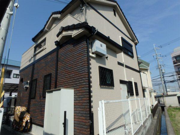 河内長野市の外壁塗装の後の家