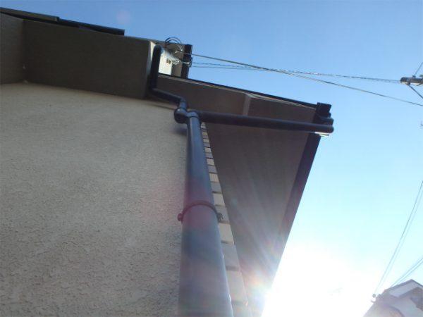 外壁と雨樋の塗装前
