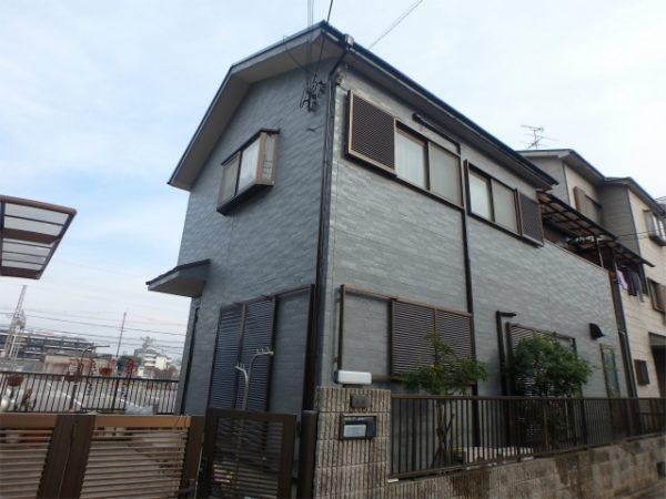 藤井寺市の塗り替え完成の家