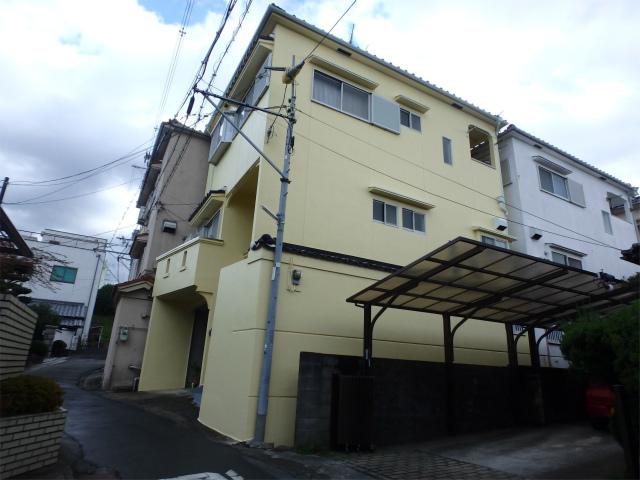 羽曳野市の戸建住宅のモルタル外壁塗装