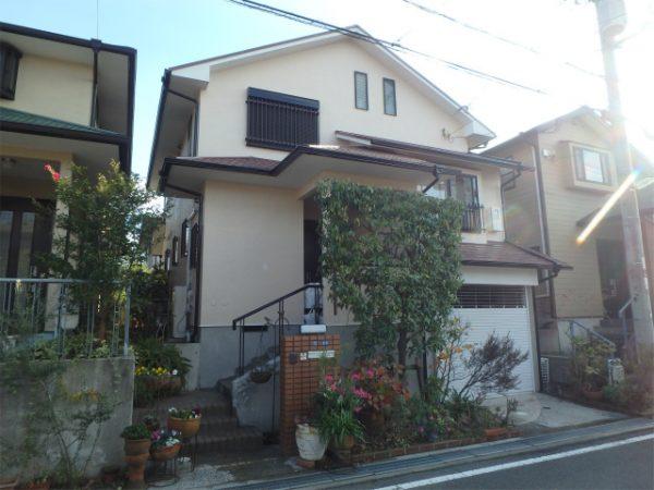 富田林市の塗装工事完成の家