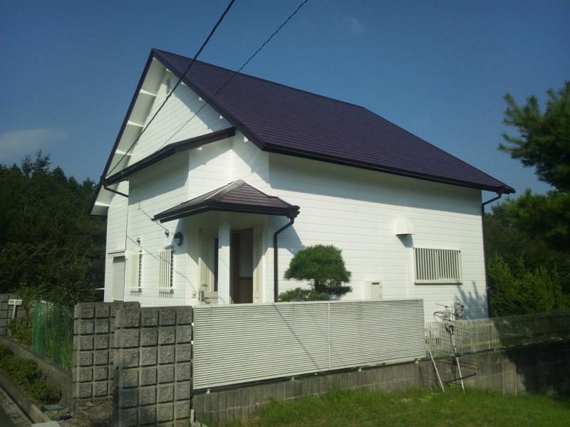 柏原市の塗装工事の家