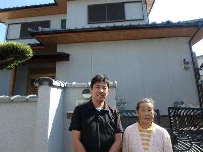 河内長野市の石調吹き付け塗装の家