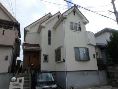 羽曳野市の住宅の塗装工事