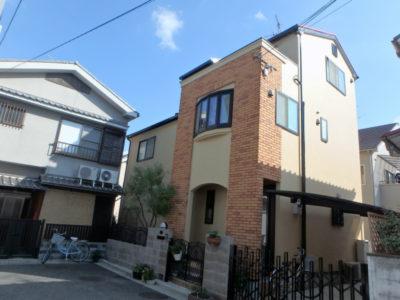 堺市東区の戸建住宅の塗り替え